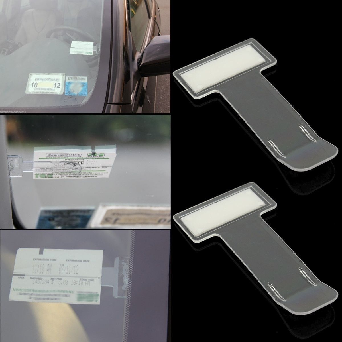 X2 Parking Ticket Holder Clip with 3M Adhesive Back Sticks to your Windscreen